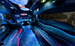 Hummer H2 Limousine bus 360 degree panorama